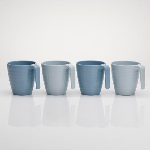 Melaminmuggar Shades of blue